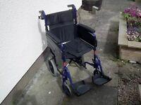 Lightweight folding wheelchair