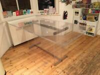 Rare vintage acrylic 'ghost' dining table