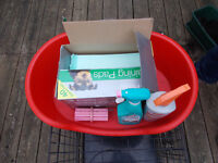 Puppy Kit: Crate, Bed, Training Pads, Anti-Chew Spray, Anti-Odour Spray, Kong Toy