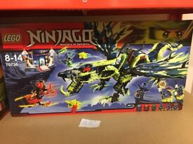 New & sealed Lego Ninjago sets.