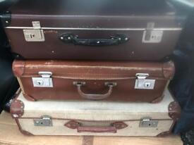 Vintage Suitcases Set of Three