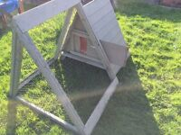 small chicken coop and run