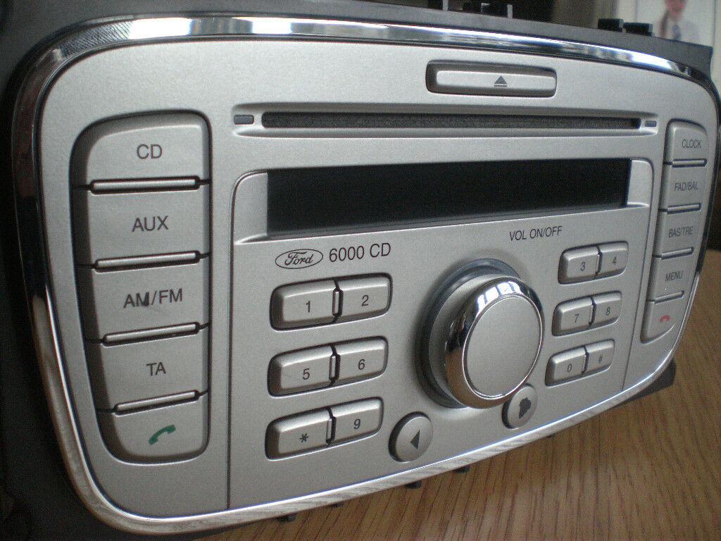 ford 6000 cd player radio phone silver ford mondeo car. Black Bedroom Furniture Sets. Home Design Ideas