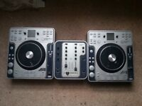 Stanton C.304 x2 CD Deck Turntables/CDJs & M.202 Mixer (See Description)