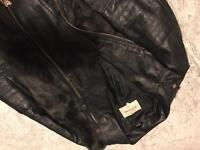River Island faux leather and fur jacket