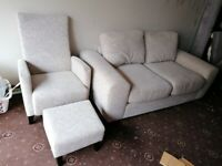 3 seater +1 armchair and food store