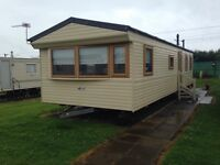 Static caravan at Sandylands .