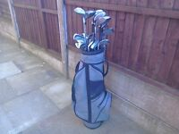 Golf clubs mixed with storage bag Car boot? Joblot