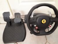 Xbox 360 steering wheel and pad as new condition