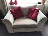 Beige/ neutral cuddle sofa