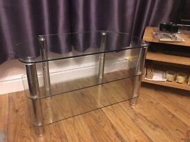 3 shelf glass tv stand