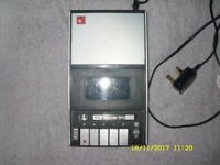 BASF CASSETTE PLAYER/RECORDER & TAPES