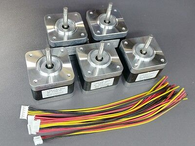 5 Nema 17 Minebea Stepper Motors 64oz Reprap Makerbot Prusa 3d Printer Arduino