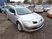 Renault Megane 1.6 3dr. HPI CLEAR. LONG MOT. CONVERTIBLE. GENUINE LOW MILEAGE. P/X WELCOME