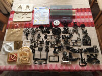 Collection of cake decorating cutters and moulds