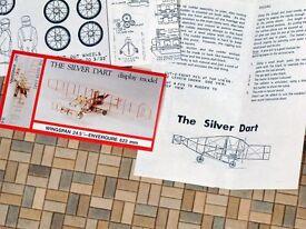 Silver Dart #D09 Easy Built Models Balsa Wood Model Airplane Kit