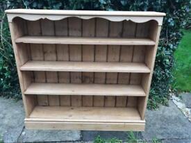 Antique Pine Bookshelf