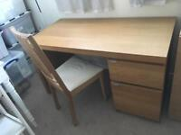 IKEA Malm Desk and Chair