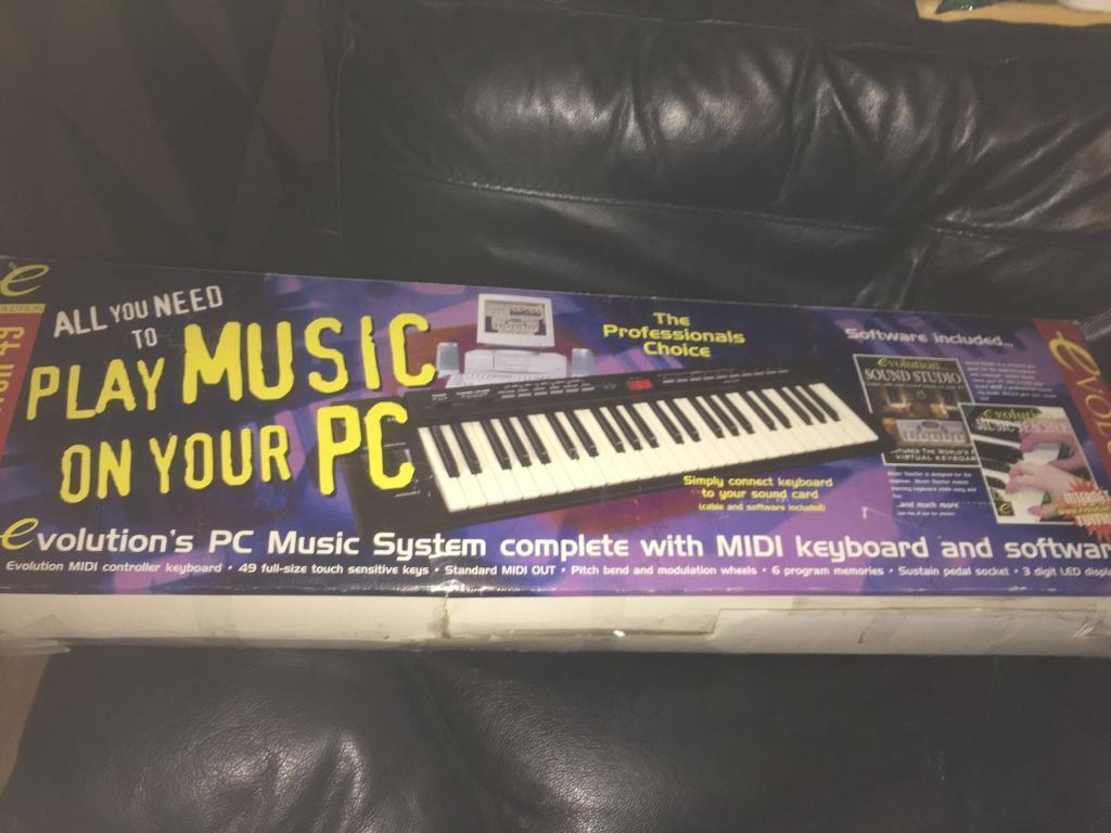 evolution music creator 49 midi keyboard | in Mosspark, Glasgow | Gumtree