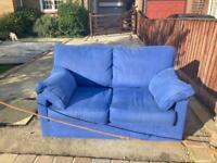 Small double sofa blue