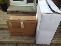 White vanity unit and sink brand new in box white