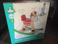 Early Learning Centre wooden rocking horse