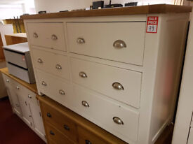 kent two tone 3+3 drawer chest