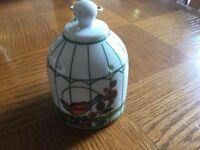 Pottery bird cage pomander japanese