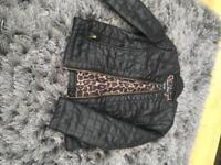 Children's leather effect jacket