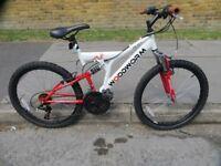 "Boys ( 24"" wheel ) Full Suspension Mountain Bike"