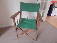 Directors Chair Foldable Old but Sturdy / Vintage / Shabby Chic / Recycle