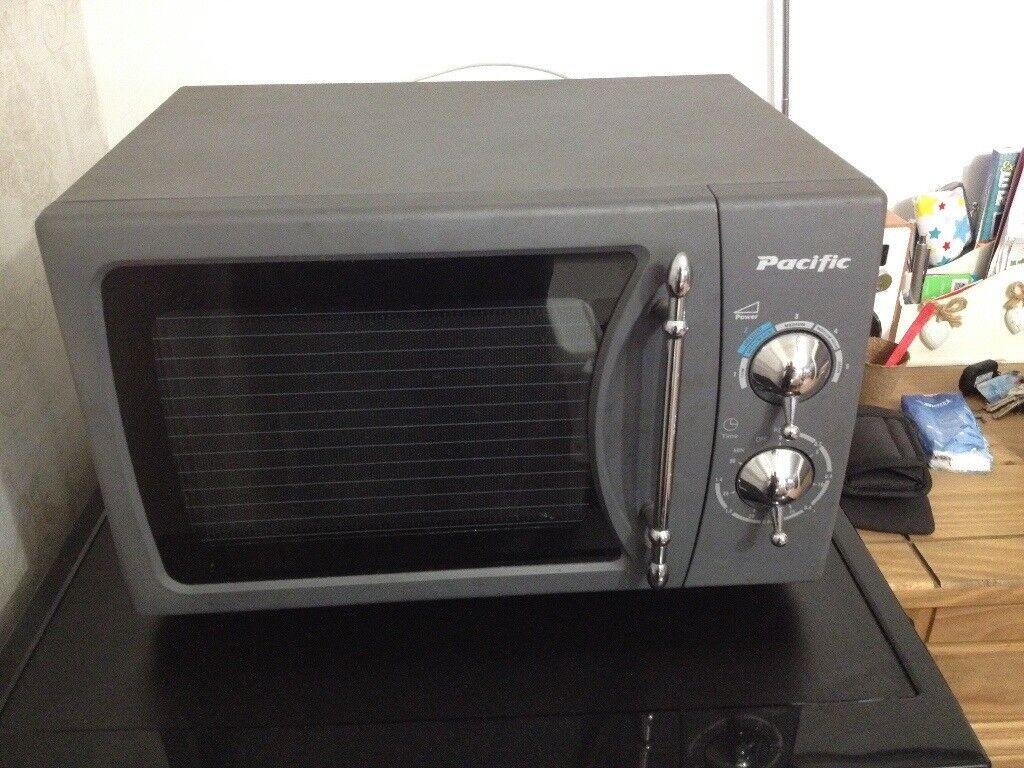 Retro Matt Grey Pacific Microwave Oven In Exeter Devon