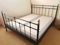 King size bed frame with base