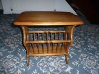Ercol Magazine Rack/Side Table