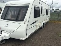 Elddis avante caravan 4 berth 2008 end bathroom