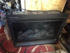 Integral electric fire