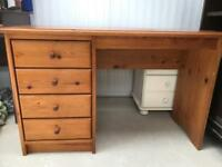 Pine dressing table/Desk FREE DELIVERY PLYMOUTH AREA