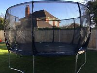 Black Plum 14ft magnitude trampoline with enclosure