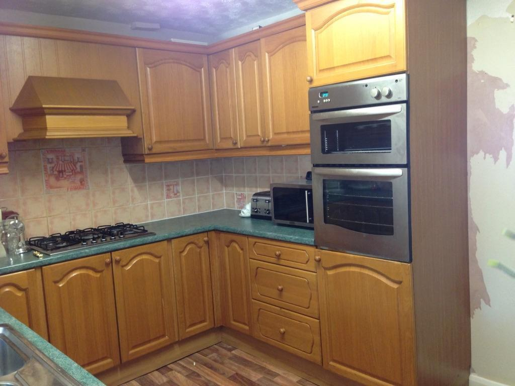 Fitted Kitchen With Appliances Sink And Tap In Maypole