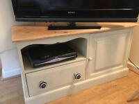 Pine TV stand table cupboard drawers shabby chic 104 x 48 x 55 cm poss deliver