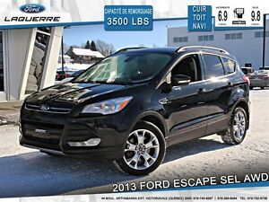 2013 Ford Escape **SEL*AWD*CUIR*TOIT*NAVI*A/C 2 ZONES**