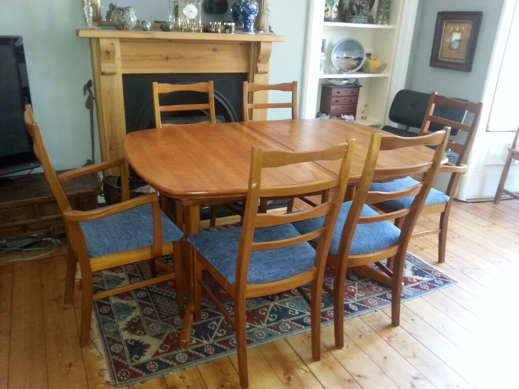 Stunning Danish Mid Century D Scan Tvilum Scanbirk Teak Extending Dining Table