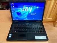 Acer HD 4GB Ram Fast Laptop 320GB,Window7, Microsoft office,Ready to use
