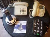 4 BT Telephones 2 Answer phones