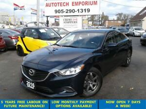 2016 Mazda MAZDA6 Auto Navigation/Leather/Btooth/HtdSts/Alloys