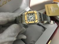 New Swiss LADIES Cartier Santos Bi-metal Watch
