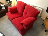 *GONE* 2 seat red sofa for free!