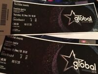 2x Global Music Award Tickets - March 1st
