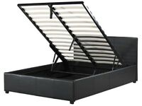 Ottoman storage Bed Frame - Small Double 4'0 - Black