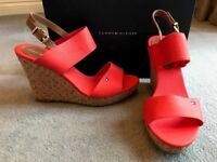 Tommy Hilfiger Red Clay wedge sandals Size Euro39